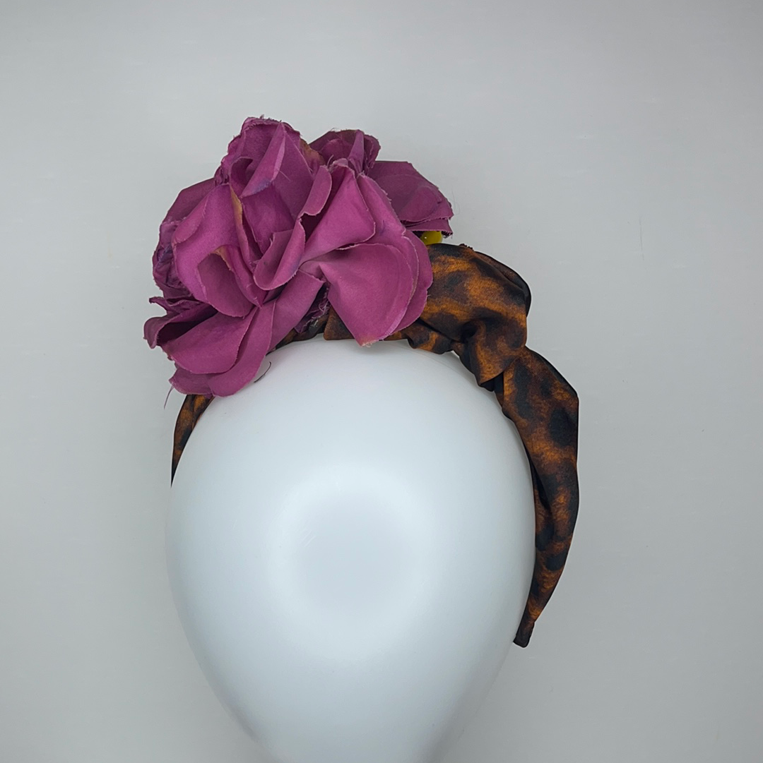 Dolce style léopard and floral headband