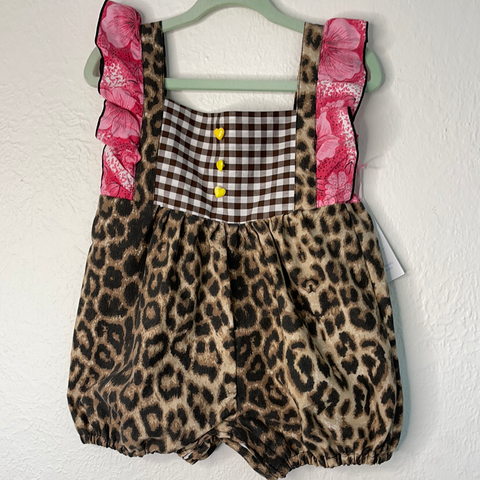 Romy romper Cotton - Leopard mix 3 to 18 months