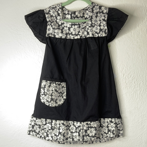 Lu Lu Dress/Tunic - Black and White - 2 to 4 Years