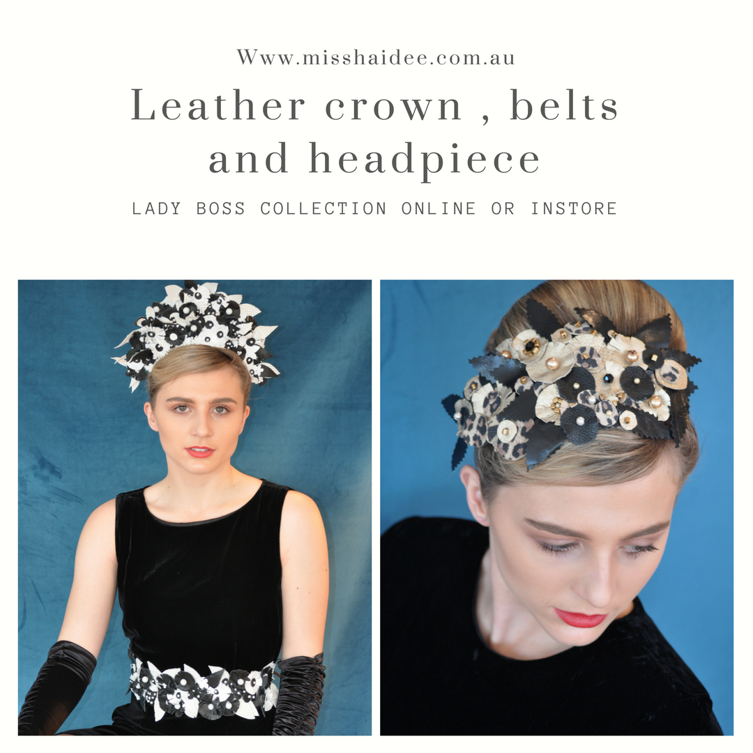 Leather Headband - Derby Day Crown