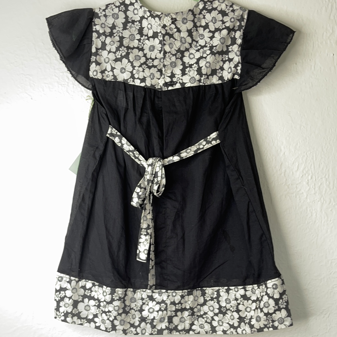 Lu Lu Dress/Tunic - Black and White - 4 to 6 Years
