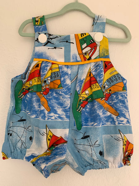 Baby Romper Retro Cotton - Wind Surfer 🏄🏼‍♂️ 0 to 3 Months