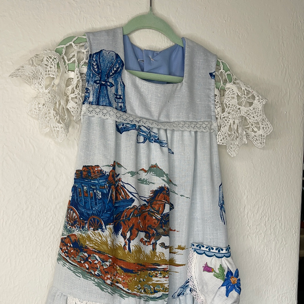 Miss haidee vintage dress size 5 western blue