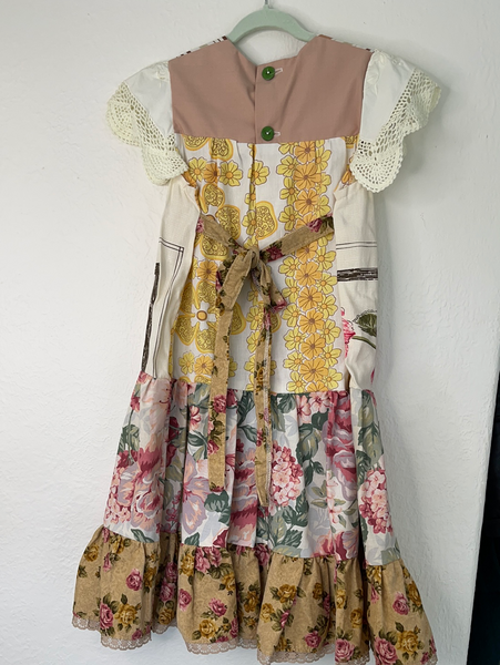 Miss haidee vintage dress size 5 autumn floral
