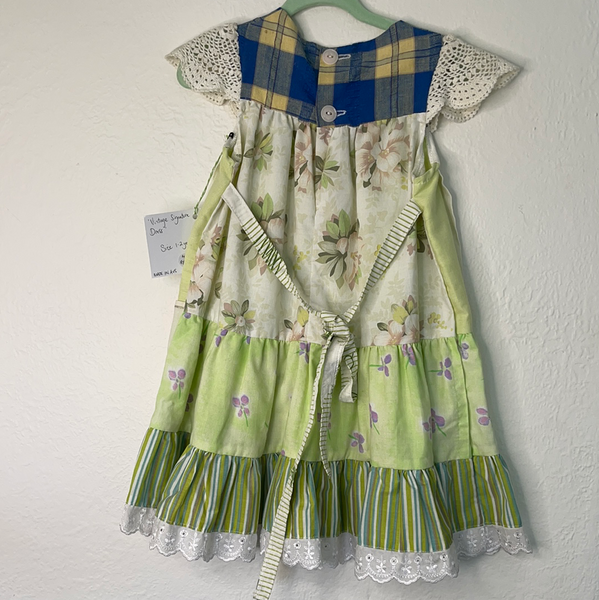 Vintage Dress - Greens - Size 1