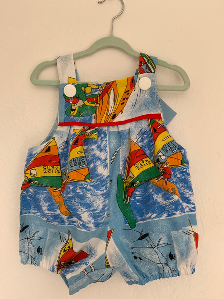 Baby Romper Retro Cotton - Windsurfer 0 to 3 Months