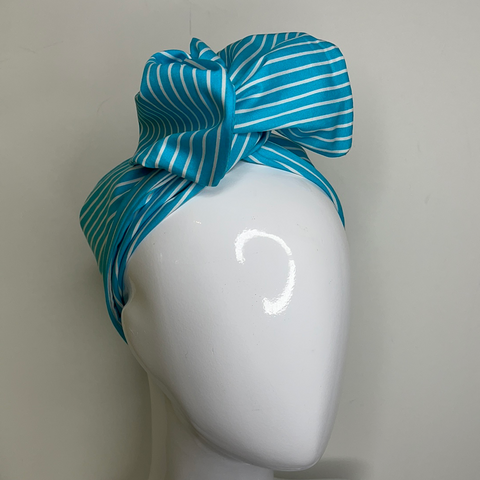 Desiree - Aqua cotton stripe