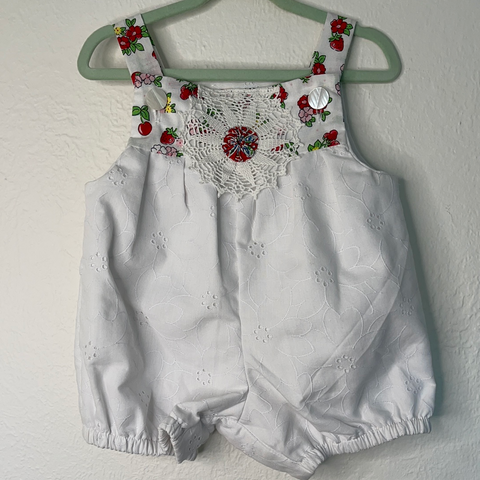 Romper baby Cotton - Vintage  0 to 12 months
