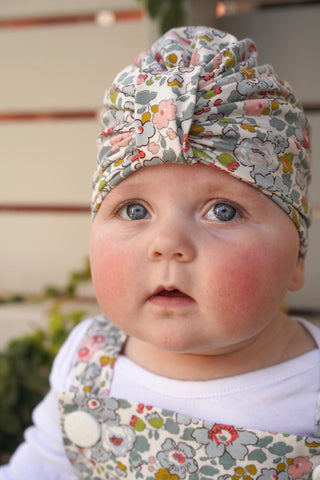Audrey Turban Liberty Print - Smaller Sizes - 0-12 Months
