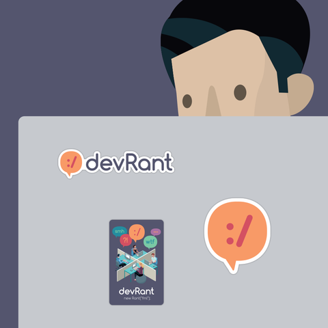 devRant Laptop Stickers 1.0 - The Originals