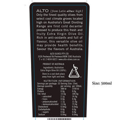ALTO  Robust Extra Virgin Olive Oil Label