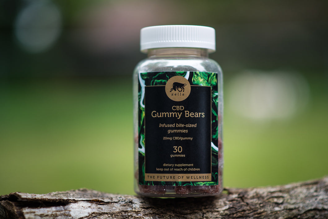 Hemp Extract Infused Gummy Bears