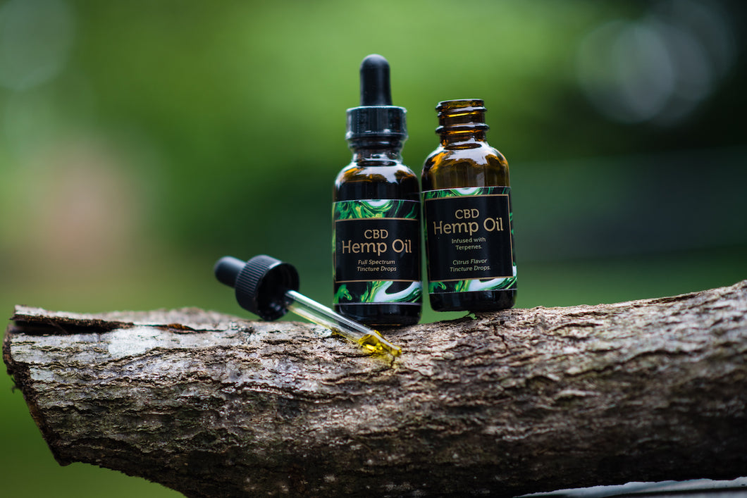 Hemp Extract Tincture Infused with Terpenes