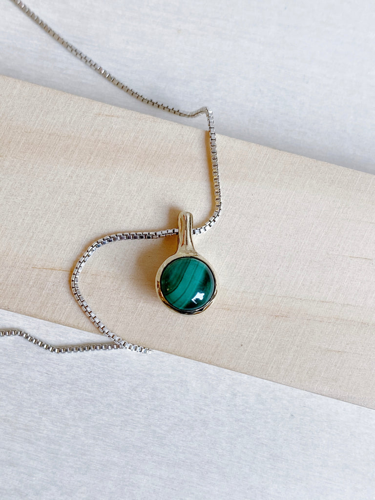 Stilla Necklace - Malachite