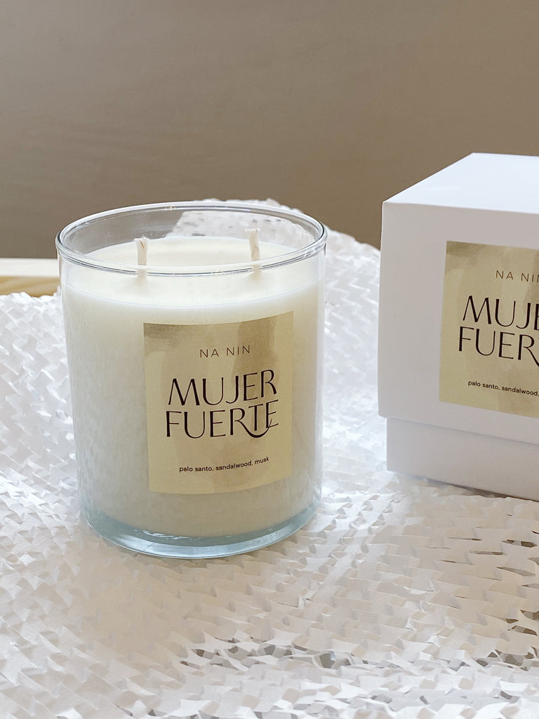 young blood boutique na nin mujer fuerte perfume candle