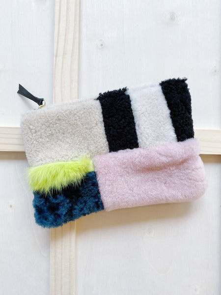 Bento Box Shearling Pouch