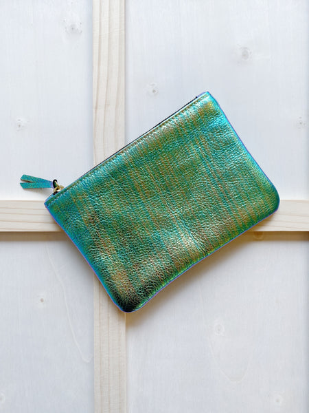 Iridescent Leather Pouch
