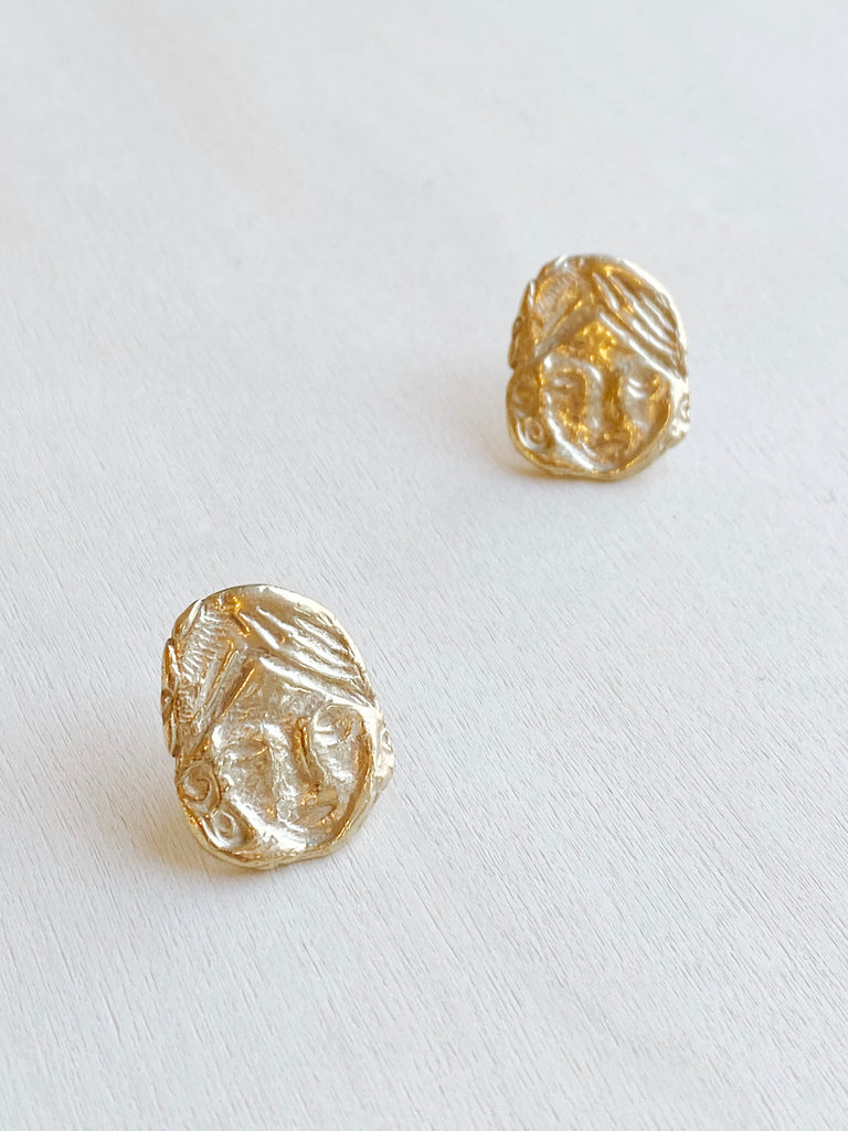 Womyn Earrings - Brass
