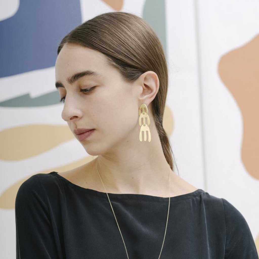 Ilhan Earrings Brass