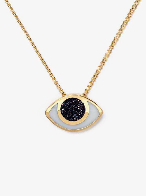 Marta Pia jewelry third eye necklace goldstone young blood boutique