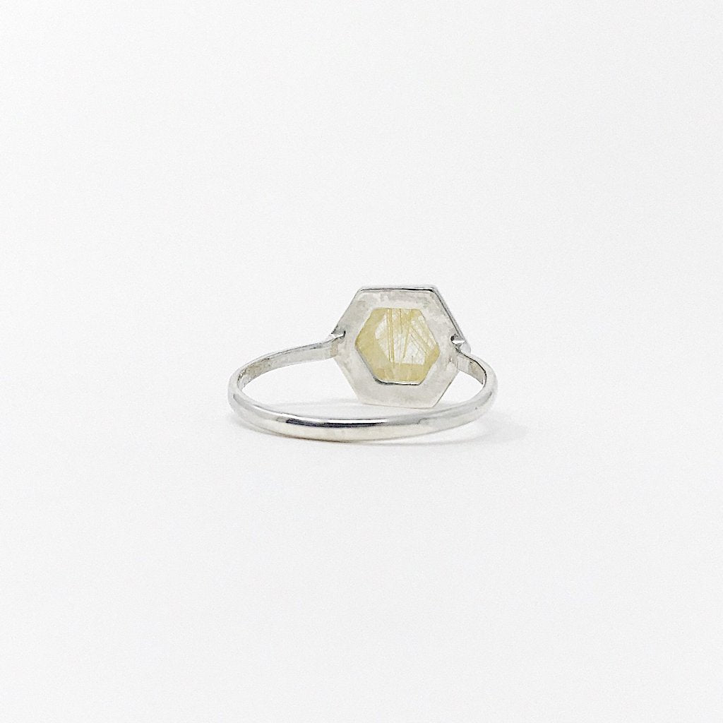 Rutilated Quartz Tuhla Ring