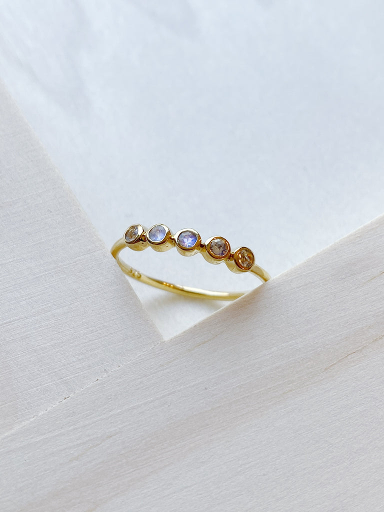 Moonstone Quin Ring