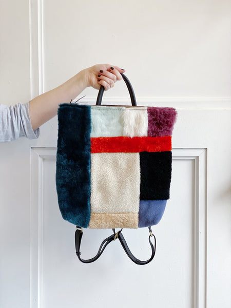 Knick Knack Shearling Backpack
