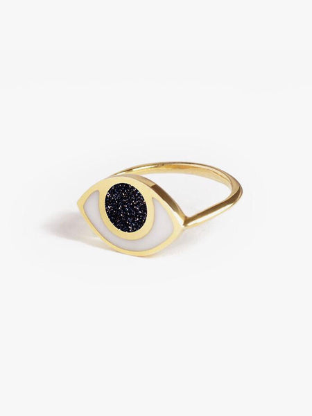 Marta Pia jewelry third eye ring goldstone young blood boutique