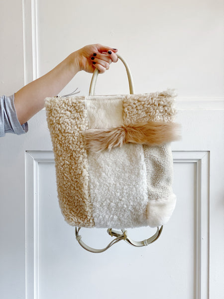 Tofu Shearling Backpack