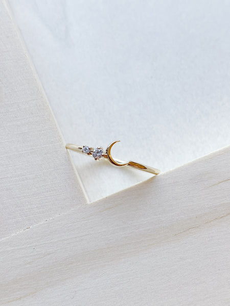 14k Fly Me to the Moon Ring