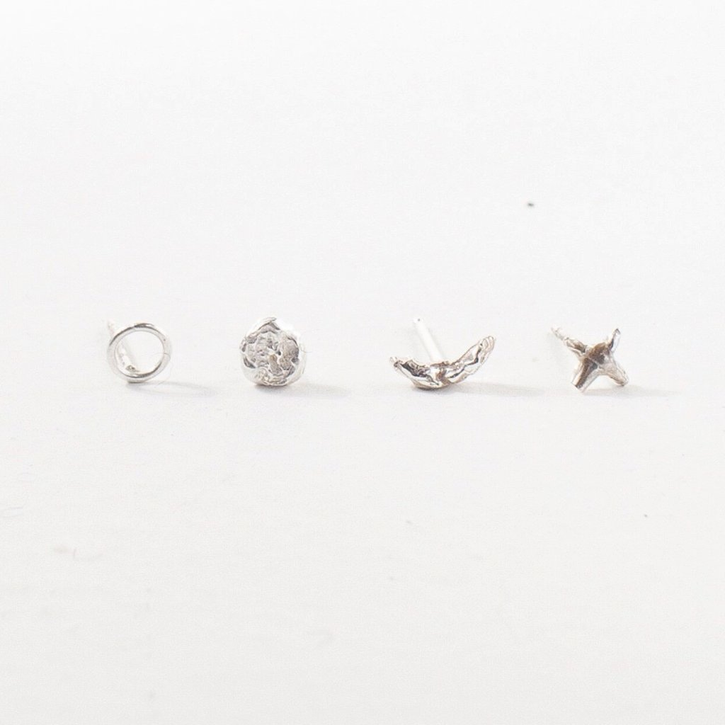 Valley Rose Studio Sterling Silver Celestial Stud Earring Set Young Blood Boutique
