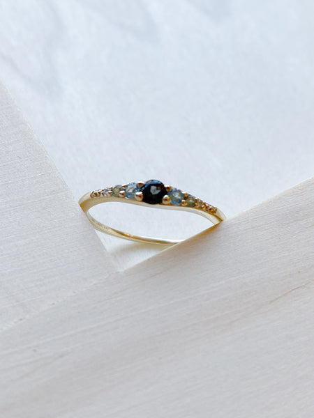 14k Blue Tourmaline Ella Vie Ring