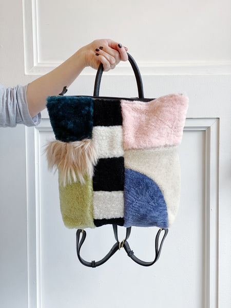 Bento Box Shearling Backpack