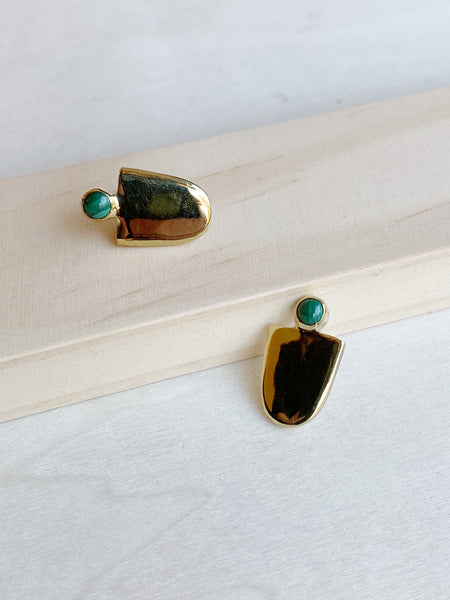 Malachite Mujer Earrings