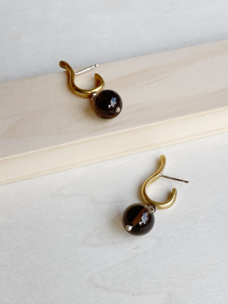 Summer Afternoon Earrings Smoky Quartz