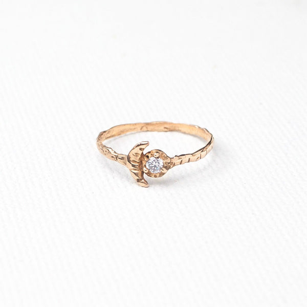 Valley Rose Studio 14k Gold Moonbeam Ring Young Blood Boutique