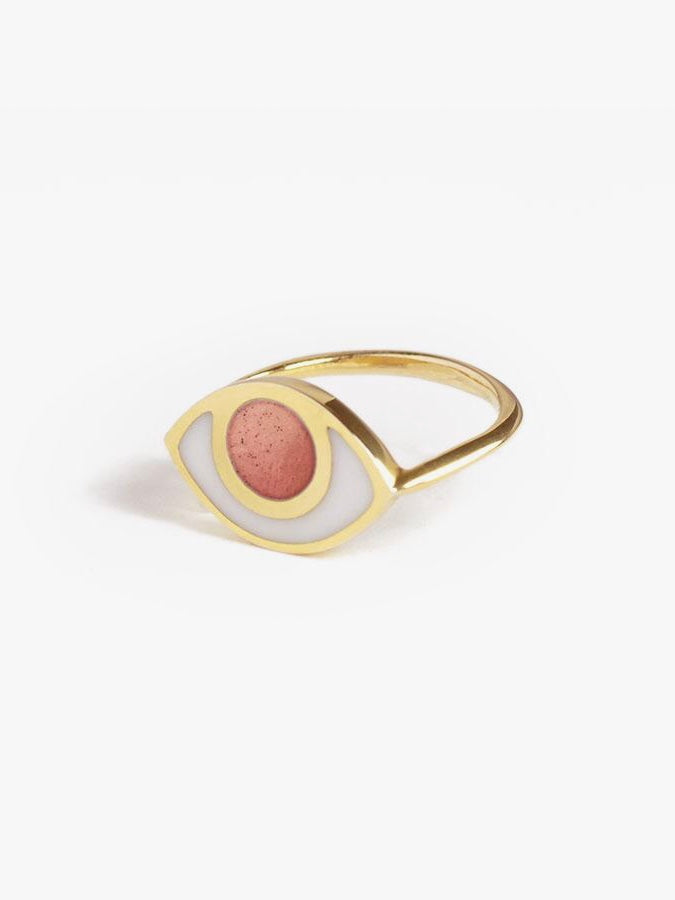 Marta Pia jewelry third eye ring pink opal young blood boutique