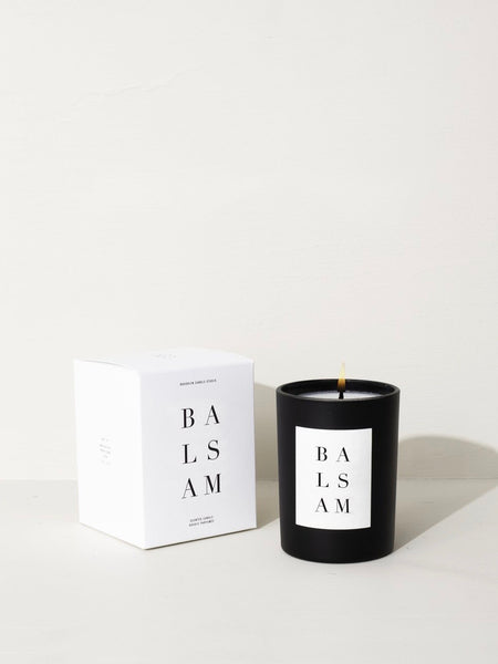 young blood boutique balsam noir candle brooklyn candle studio