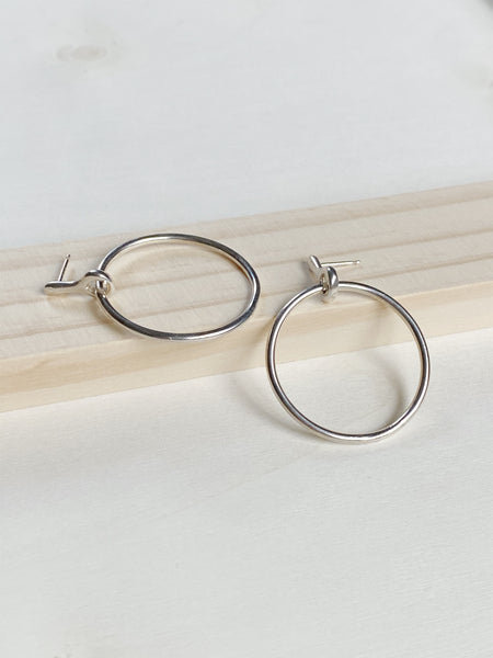 Connect Hoops - Sterling Silver