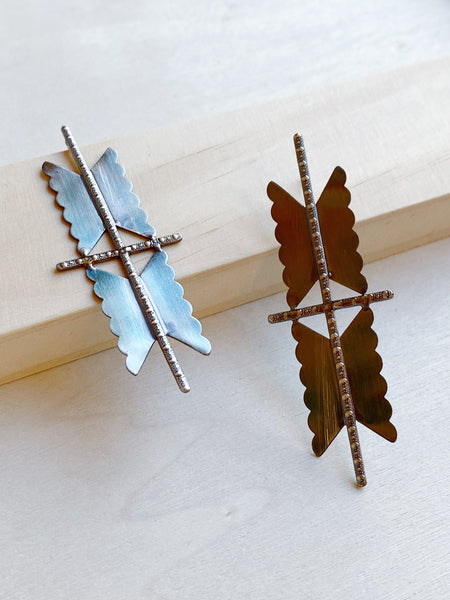 young blood boutique hannah keefe moth earrings detail 2
