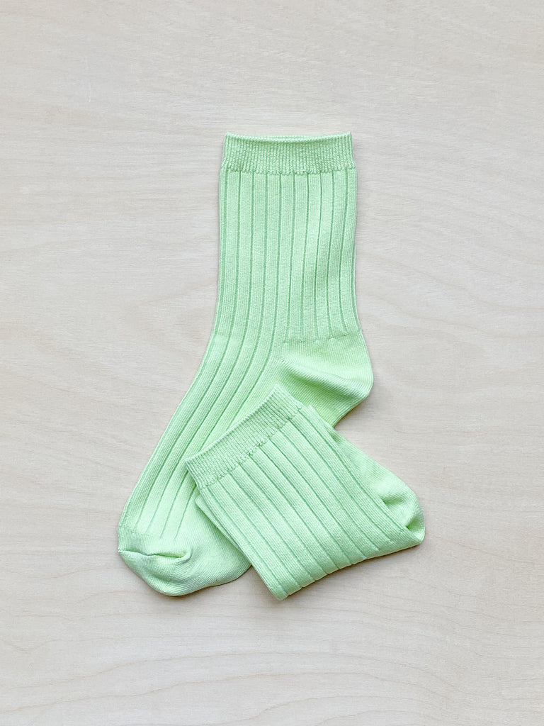 young blood boutique le bon shoppe socks lime