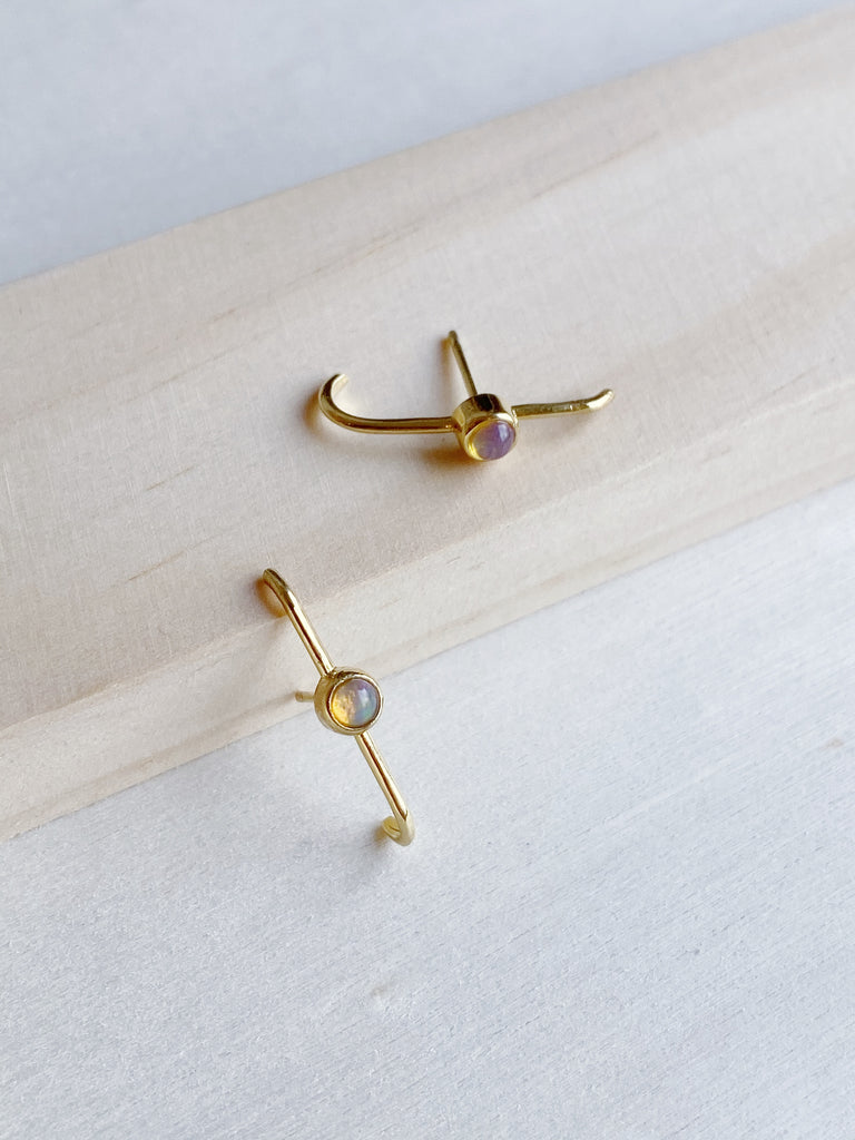 young blood boutique merewif jewelry dillon stud earrings gold plate