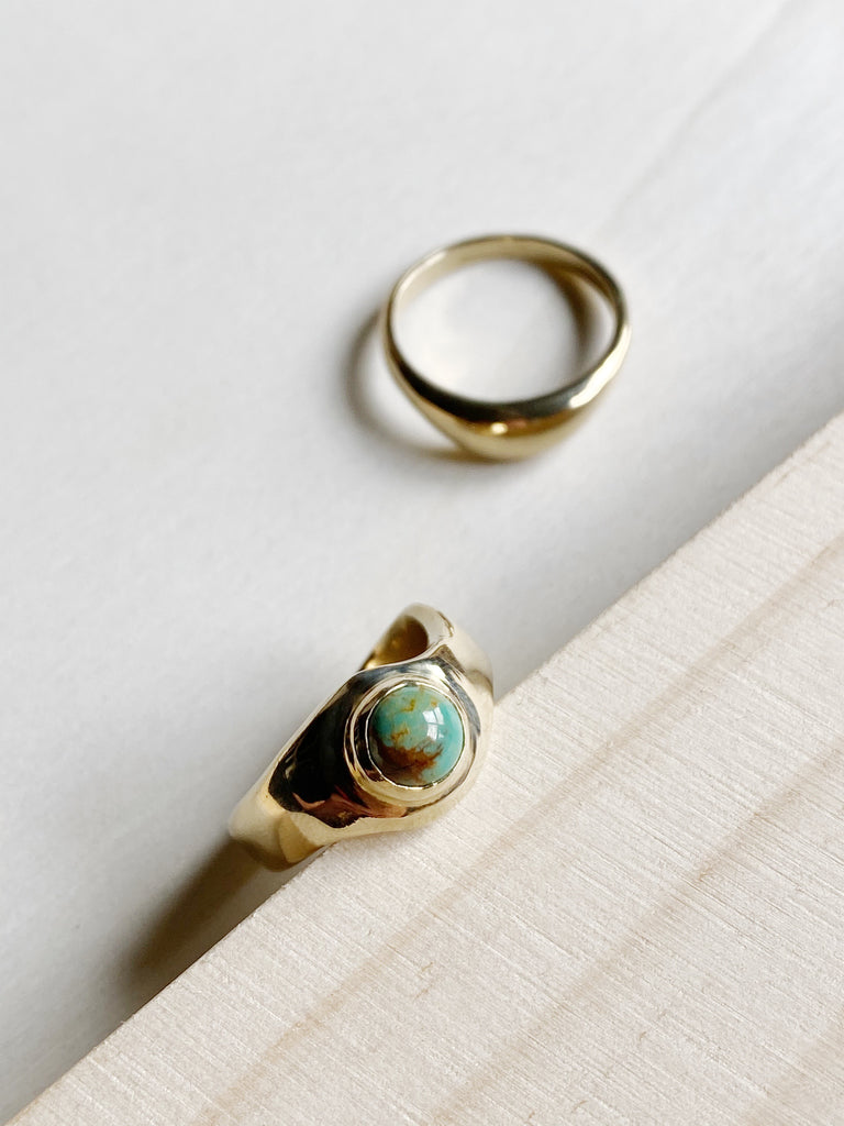 young blood boutique seaworthy jewelry emmeline ring turquoise brass