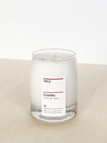 young blood boutique yield design candle Castillo cypress salt smoke
