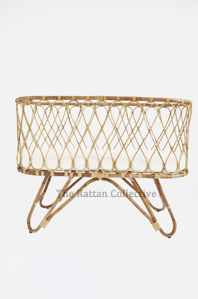 baby rattan bassinet cane bassinet wicker crib nursery decor furniture byron bay bondi baby rocker the rattan collective