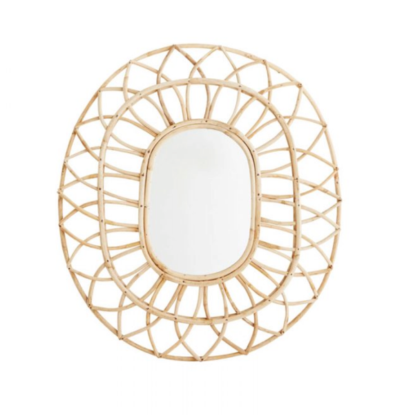 rattan mirror home furnishings cushions boho bohemian tropical coastal the rattan collective byron bay hanging chairs