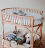 rattan change table bassinet nursery cot baby byron bay rattan crib rattan furniture newborn