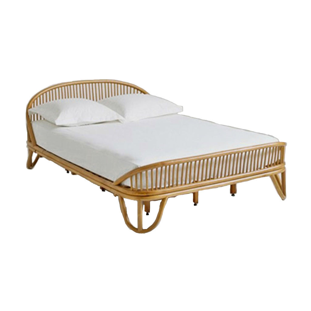 king rattan bed cane wicker queen byron bay the rattan collective foam mattress