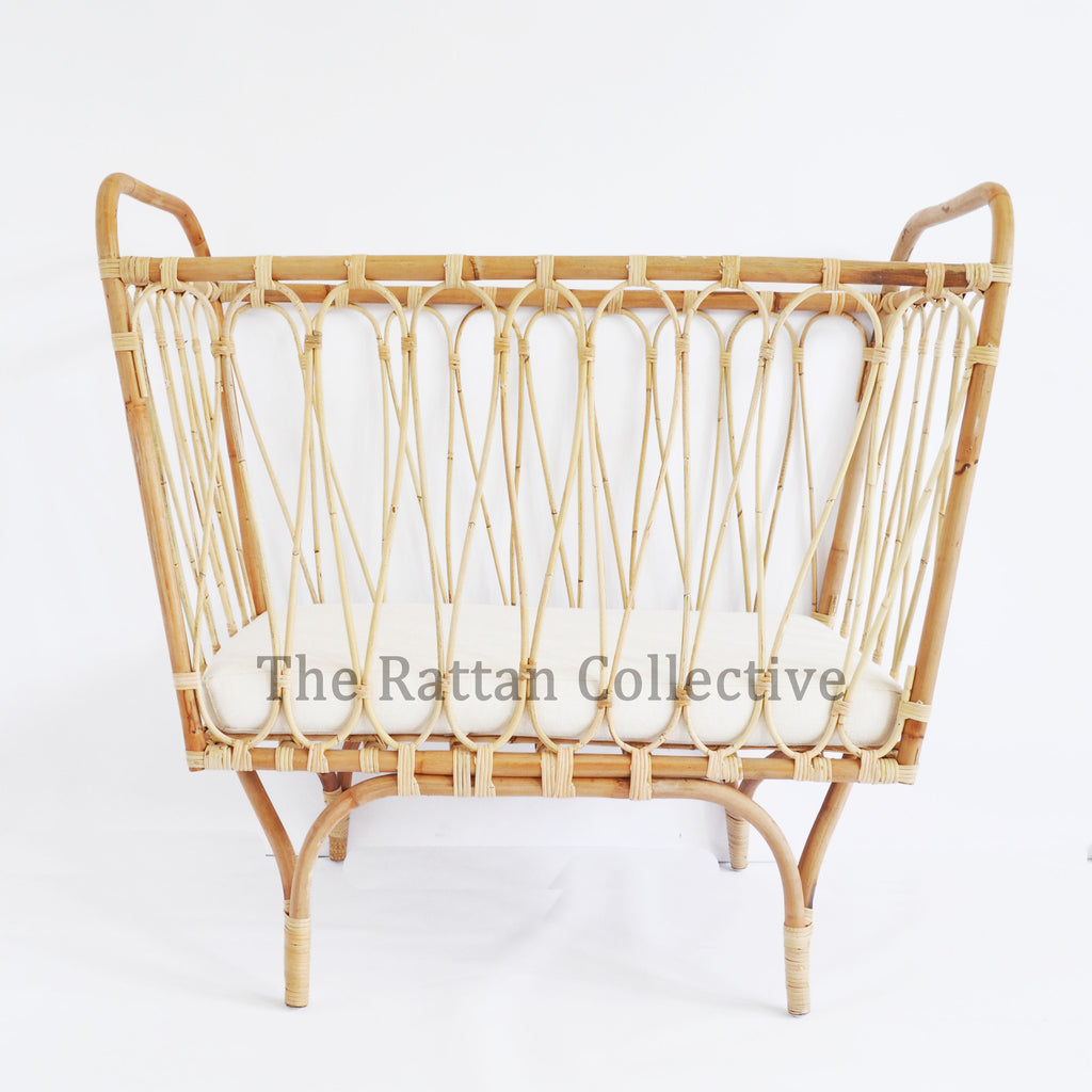 Charmant The Rattan Collective Haven Cane Wicker Rattan Baby Bassinet Hanging Chair  Byron Bay Folk The Family