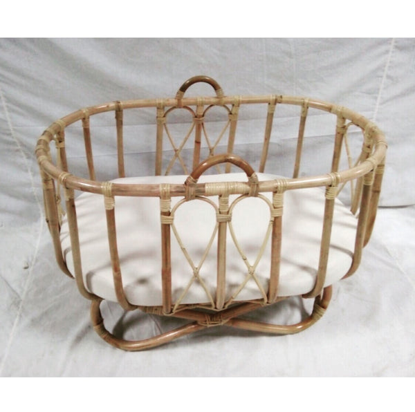 Rattan Bassinet Baby Nursery Cot Cane Bassinet Wicker Byron Bay The Rattan  Collective Crib Pregnant Baby